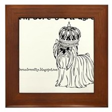 Im sure youll agree, Im the queen bee Framed Tile