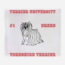 (RED) Yorkshire Terrier #1 Breed Throw Blanket