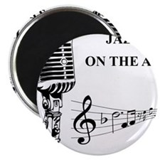 """Jazz on the air! 2.25"""" Magnet (100 pack)"""