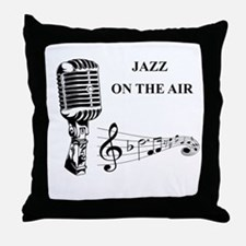Jazz on the air! Throw Pillow
