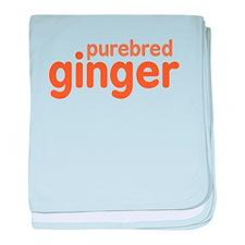 Purebred Ginger baby blanket