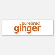 Purebred Ginger Bumper Bumper Sticker