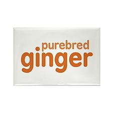 Purebred Ginger Rectangle Magnet