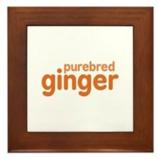 Purebred Ginger Framed Tile