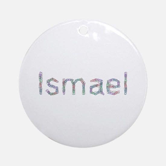 Ismael Paper Clips Round Ornament