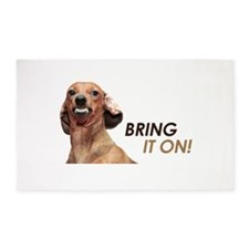 Bring It On Dachshund 3'x5' Area Rug