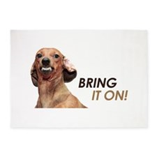 Bring It On Dachshund 5'x7'Area Rug