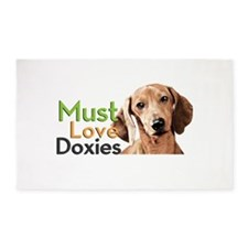 Must Love Doxies 3'x5' Area Rug