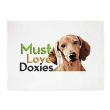Must Love Doxies 5'x7'Area Rug