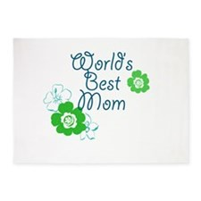 Worlds Best Mom 5'x7'Area Rug