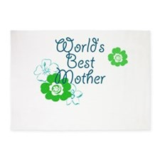 Worlds Best Mother 5'x7'Area Rug