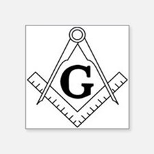 "Freemason Symbol Square Sticker 3"" x 3"""