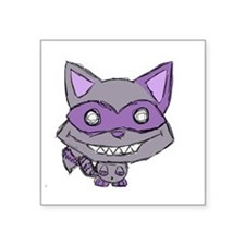 "Creepy Cute Racoon Square Sticker 3"" x 3"""