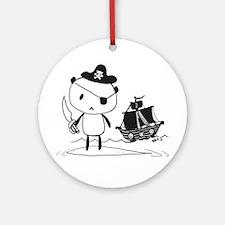 Pirate Panda Ornament (Round)