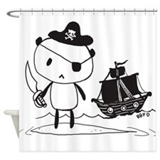 Pirate Panda Shower Curtain