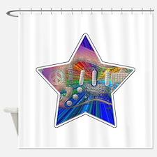 Vivid Colors Peace Guitar Shower Curtain