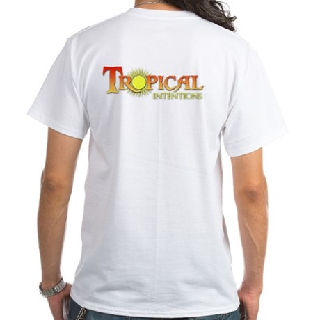 Tropical Intentions White T-Shirt