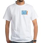 Chuck on Three Design 2 White T-Shirt