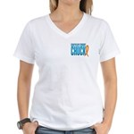 Chuck on Three Design 2 Women's V-Neck T-Shirt