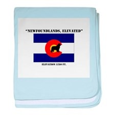 Newfoundland in Colorado flag baby blanket