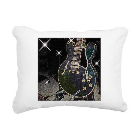 Semiglow Guitar Rectangular Canvas Pillow