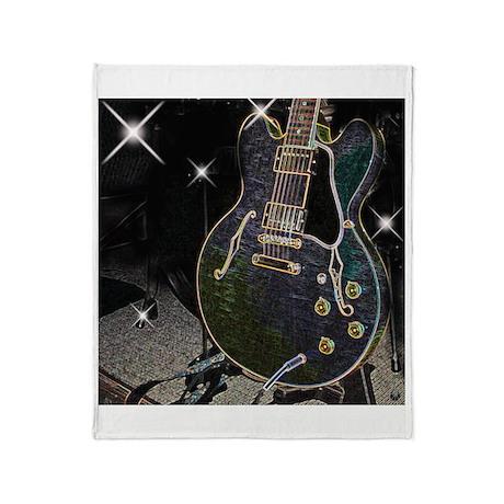 Semiglow Guitar Throw Blanket