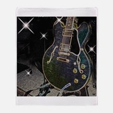 Semiglow Guitar Throw Blanket