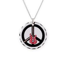 Peace Guitar Necklace