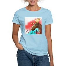 Alaska Moose Wildlife Women's Pink T-Shirt