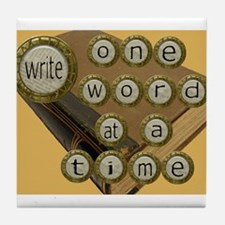 One Word at a Time Tile Coaster