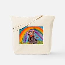 PRECIOUS CAT AT THE RAINBOW BRIDGE Tote Bag