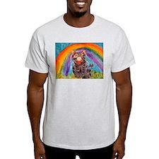 PRECIOUS CAT AT THE RAINBOW BRIDGE T-Shirt