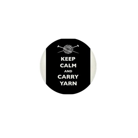 Keep Calm Carry Yarn Mini Button (100 pack)