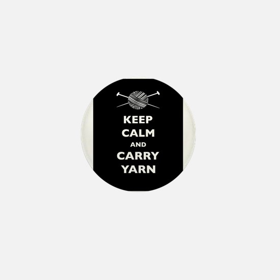 Keep Calm Carry Yarn Mini Button