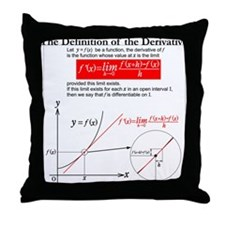The Definition of the Derivative. Throw Pillow