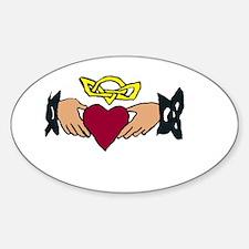 claddagh Sticker (Oval)