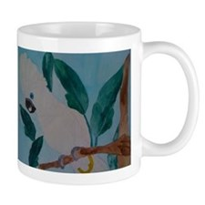 white umbrella cockatoo Mug