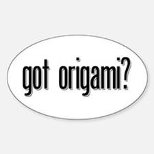 got origami? Oval Decal