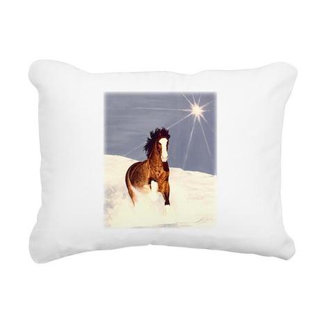 Starlight Snow Run Rectangular Canvas Pillow