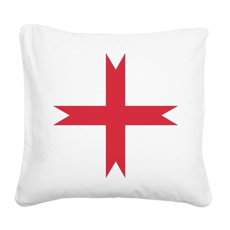 templarcrossfork.png Square Canvas Pillow