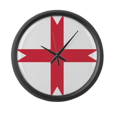 templarcrossfork.png Large Wall Clock