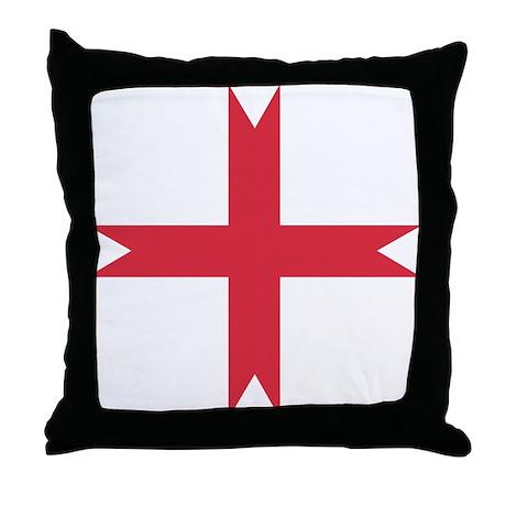templarcrossfork.png Throw Pillow