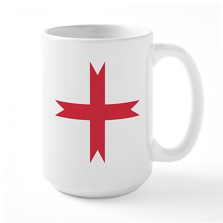 templarcrossfork.png Large Mug