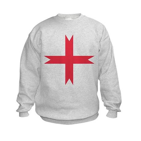 templarcrossfork.png Kids Sweatshirt