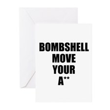 Bombshell move your ass Greeting Cards (Pk of 20)