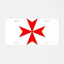 redcrossmaltese.png Aluminum License Plate