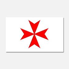 redcrossmaltese.png Car Magnet 20 x 12
