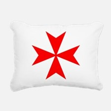 redcrossmaltese.png Rectangular Canvas Pillow