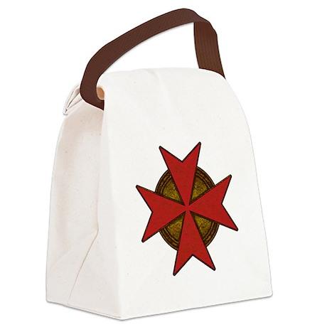 maltesecrossgoldred.png Canvas Lunch Bag
