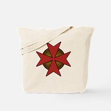 maltesecrossgoldred.png Tote Bag
